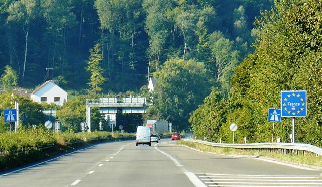 Grenzübergang Frankreich Deutschland